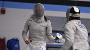 HOPKINSSPORTS.COM Sophomore Erin Chen defended her individual title in the Sabre competition.