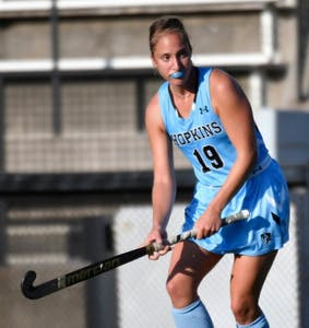 HOPKINSSPORTS.COM Senior Francesca Cali, a defender, helped secure the win.