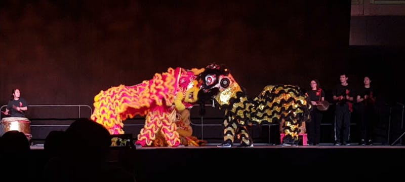 COURTESY OF ARAN CHANG The Yong Han Lion Dance Troupe performed at this year's Culture Show.