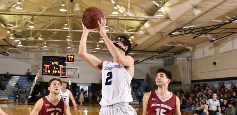 HOPKINSSPORTS.COM Freshman guard Joey Kern scored a career-high 17 points to lead the Jays.