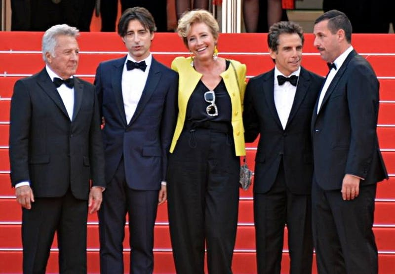 GEORGES BIARD / CC BY-SA 3.0 The cast and director of Meyerowitz Stories attended the film's Cannes debut.