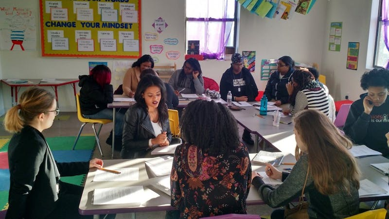COURTESY OF PATRICE HUTTON Writers in Baltimore Schools offers creative writing workshops to city students.