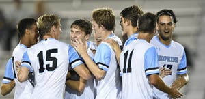 HOPKINSSPORTS.COM The men's soccer team earned an at-large bid to the NCAA Tournament.