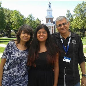 COURTESY OF DIVA PAREKH Parekh resides in Baltimore but grew up in Mumbai, where her parents live.