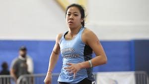 HOPKINSSPORTS.COM Senior Jenn Su won every pentathlon event at the Conference Championships.