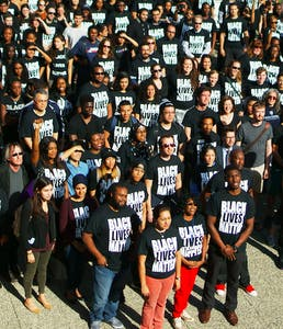 COURTESY OF EDA INCEKARA AND KUNAL MAITI Hopkins students gathered in support of the Black Lives Matter movement in 2016.