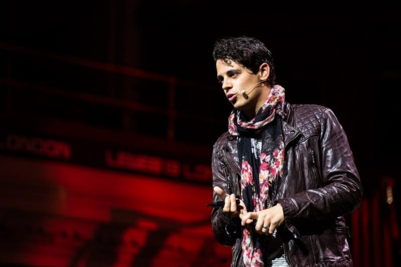 OFFICIAL LEWEB PHOTOS/CC BY 2.0 Milo Yiannopoulos is a controversial far-right writer who has sparked protests.