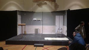 COURTESY OF COLE DOUGLASS Lee Blessing's play Two Rooms utilizes a minimalist set to accent the drama.