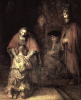 "ARTSY POWER: Annie Storr recalls gazing at  Rembrandt's ""Parable of the Prodigal Son"". She says the experience showed her the transformative power of art and taught her that some art is ambiguous and is not meant to be fully understood or ""solved""."