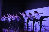 """MIRRORED MAUVE: """"One Week"""" choreographed by Lindsay Weiner '18 perfectly fit the throwback theme."""