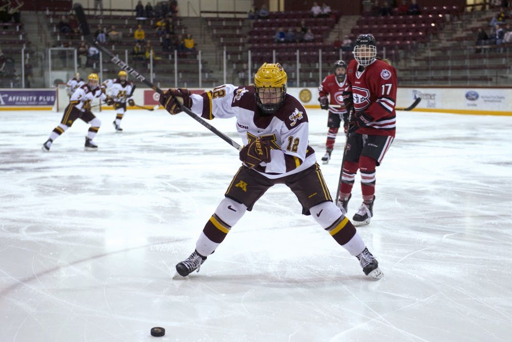 Gophers beat St. Cloud in first game of WCHA playoffs