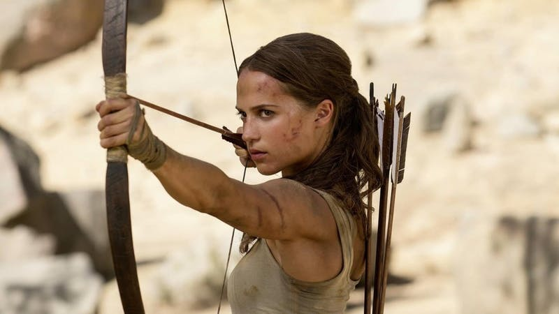 Alicia Vikander takes on the role of Lara Croft in Tomb Raider.