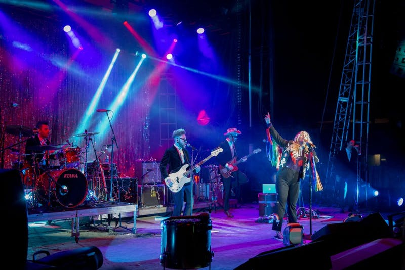 Kesha performs on Friday, Oct. 21, 2016 during the Homecoming Concert at TCF Bank Stadium.
