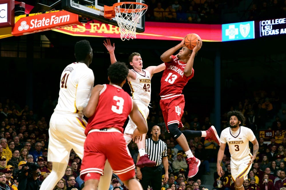 Down Lynch and Coffey, shorthanded Gophers fall to Indiana