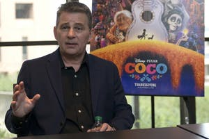 "Designer Chris Bernardi sits down the Minnesota Daily to discuss his role in PIXAR's new film ""Coco"" in McNeal Hall on Thursday, Nov. 16."
