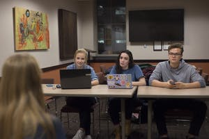 Members of the CLA Student Board judge auditions for the Gopher's Got Talent talent show in Cyrus Northrop Auditorium on Thursday, Nov. 17.