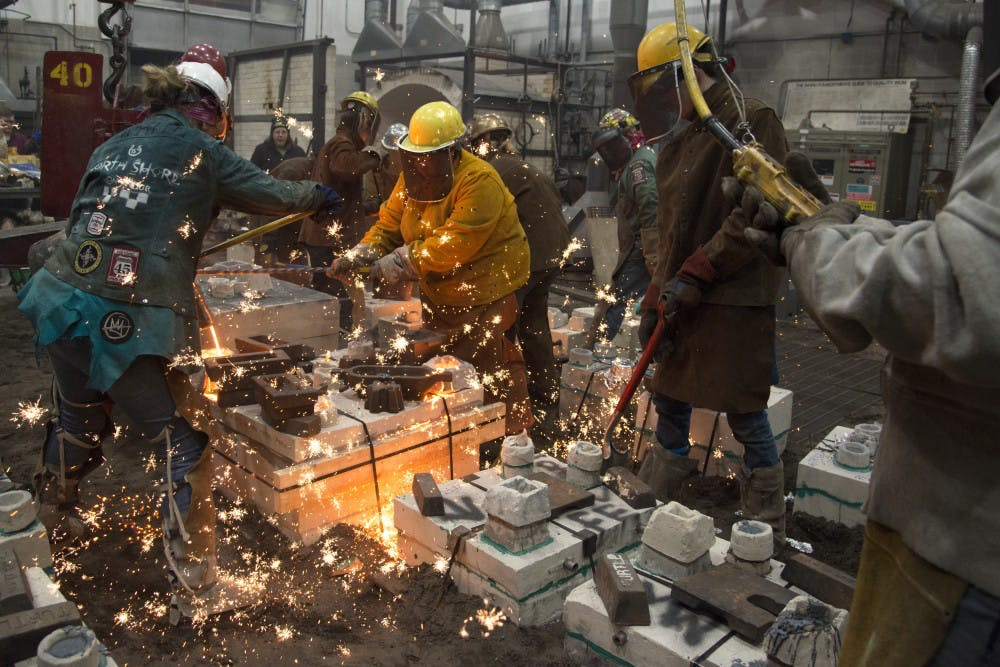 31st Fall Iron Pour sparks teamwork