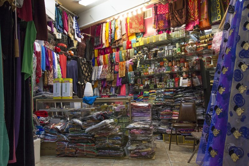 A Riverside Mall shop filled with traditional Somali clothing  on Friday, Oct. 27.