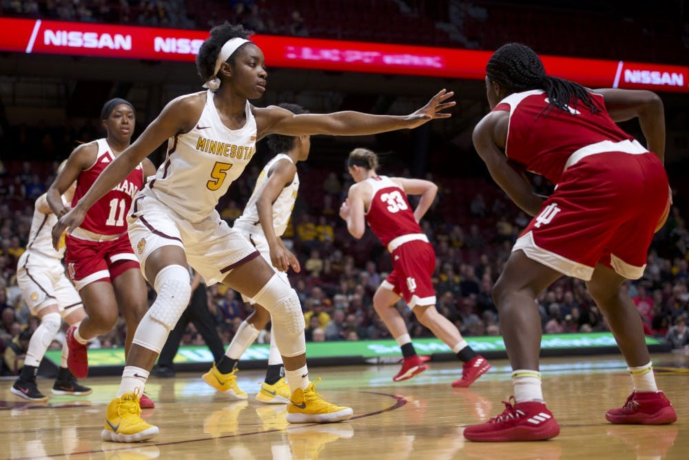 Gophers fall to Indiana on senior night, snap four-game winning streak