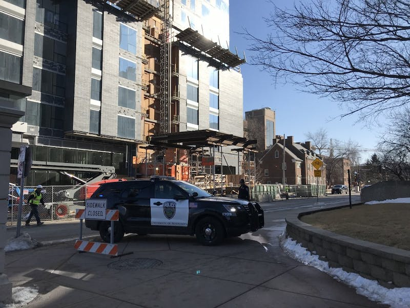 A gas leak near Superblock prompted a brief shutdown of the streets on Wednesday, Feb. 14