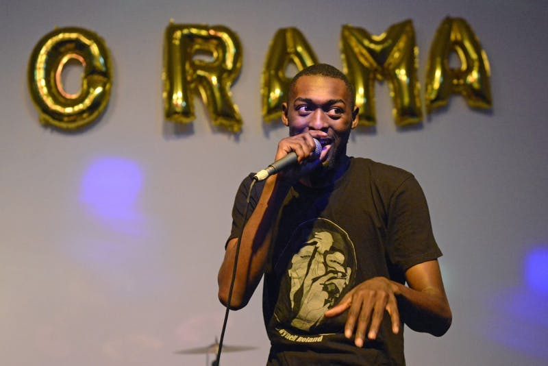 Local rap artist, Dwynell Roland, performs during WAM-O-Rama on Friday Sept. 8 at the Weisman Art Museum.