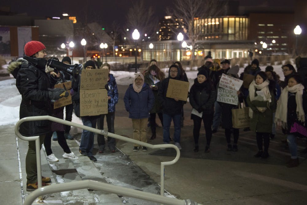 Students, faculty protest proposed conduct code changes