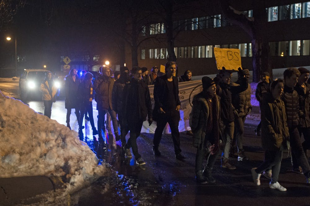 Protesters take to St. Paul campus to voice disapproval of Ben Shapiro