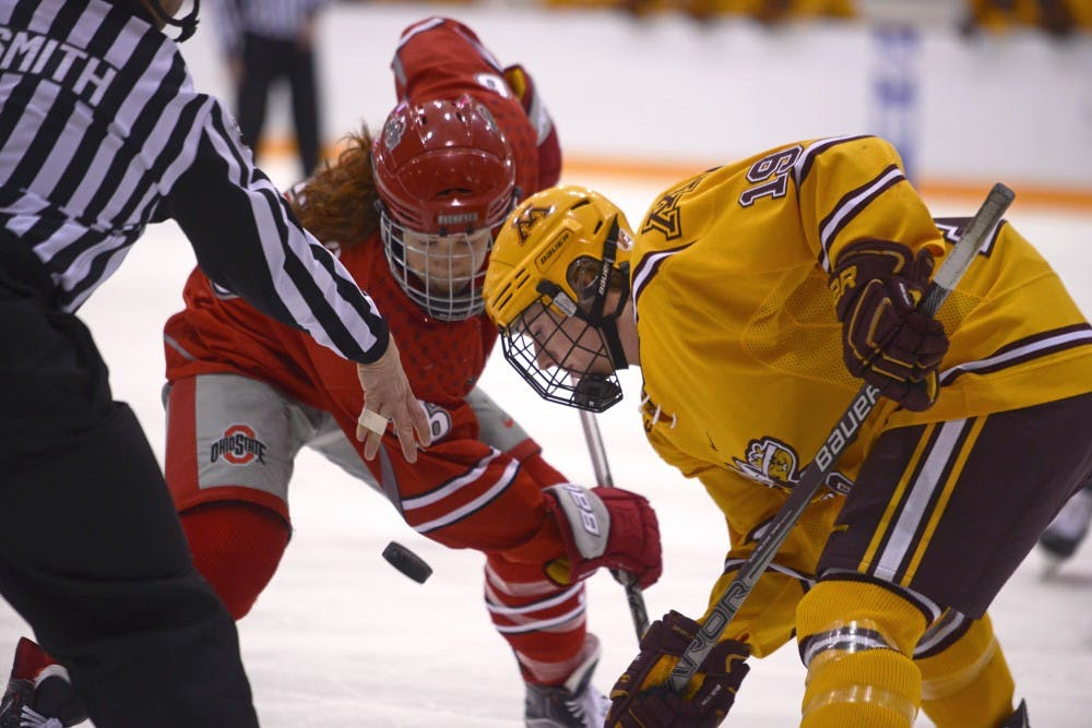 Gophers face tough matchup with Ohio State for WCHA Final Faceoff semifinal