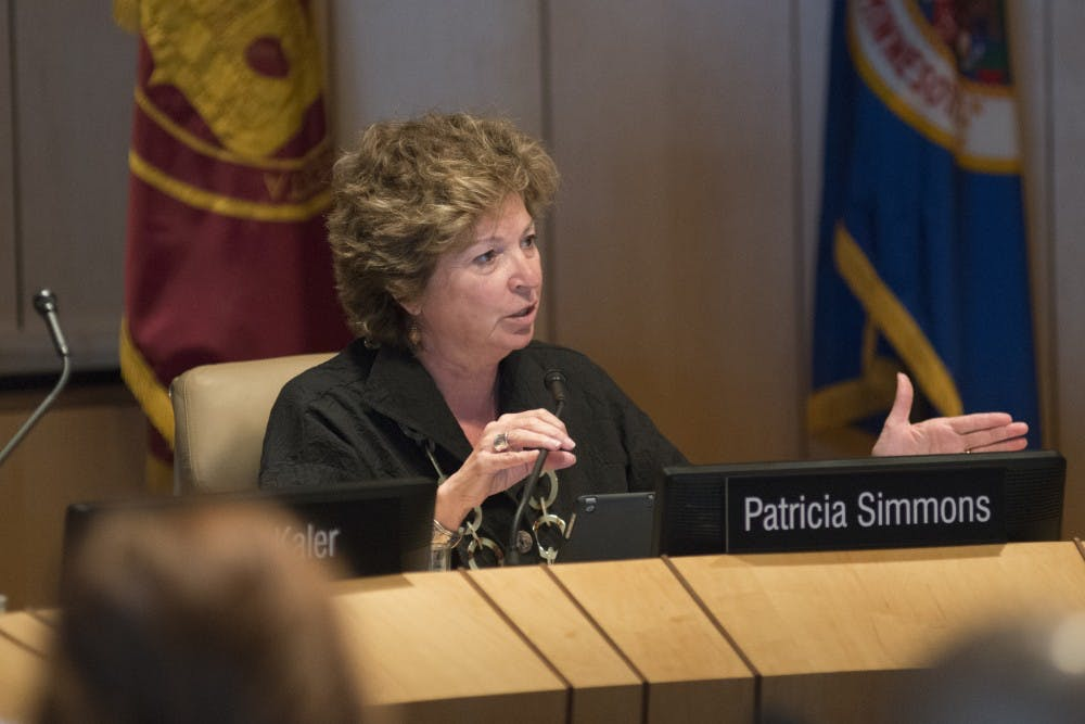 University Regent Patricia Simmons resigns