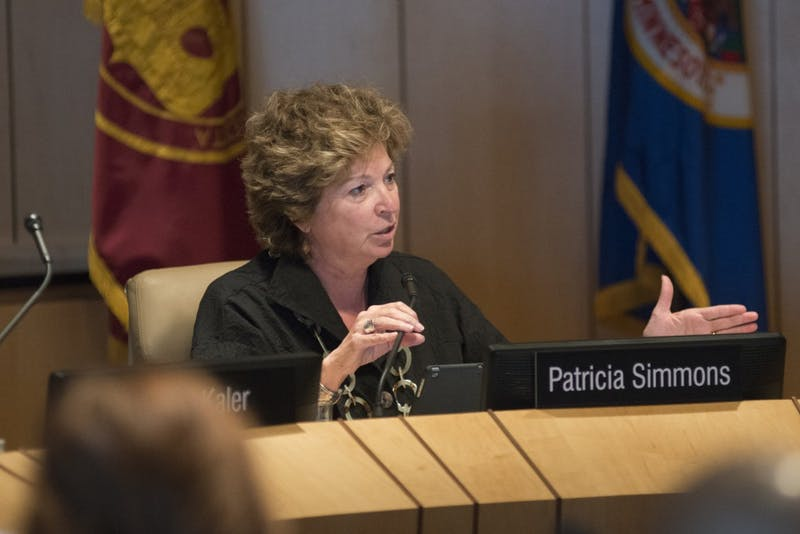 Regent Patricia Simmons speaks during a Board of Regents meeting on July 8, 2015.