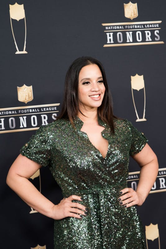 Dascha Polanco on the red carpet at the NFL Honors awards on Saturday, Feb. 3 at Northrop Auditorium.