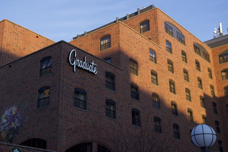 """Police are negotiating with at least one individual inside the Graduate Hotel as of Monday evening. """"We've been talking to that individual and asking them to come out for some time now,"""" UMPD Police Chief Matt Clark said Monday morning."""