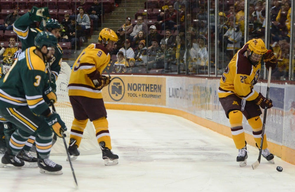 Gophers sweep Clarkson with power play goals and penalty kill