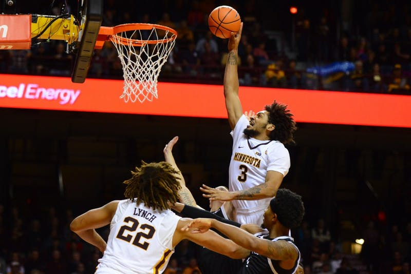 Forward Jordan Murphy goes up for a shot on SC Upstate at Williams Arena on Friday, Nov. 10.