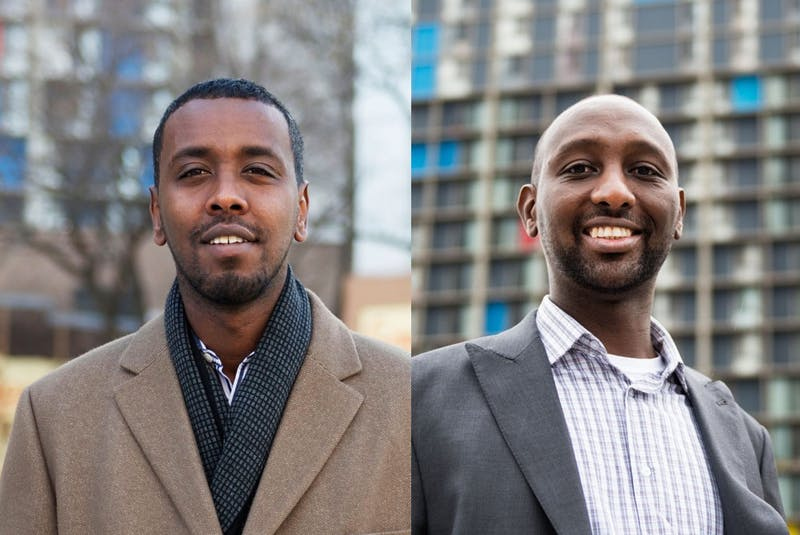 From left: Ward 6 City Council Member Abdi Warsame and challenger Mohamud Noor