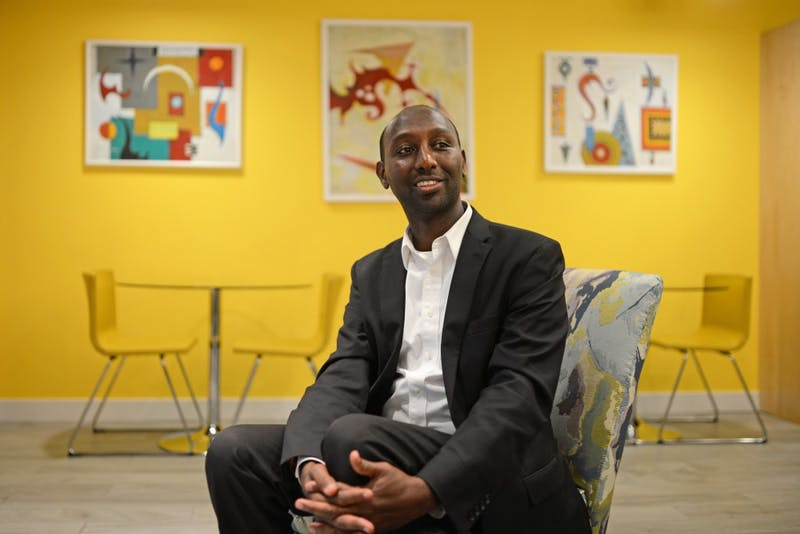 Founder of Pioneer Staffing and Training Mohamud Noor poses for a portrait in Cedar Riverside on Monday, Sept. 11.
