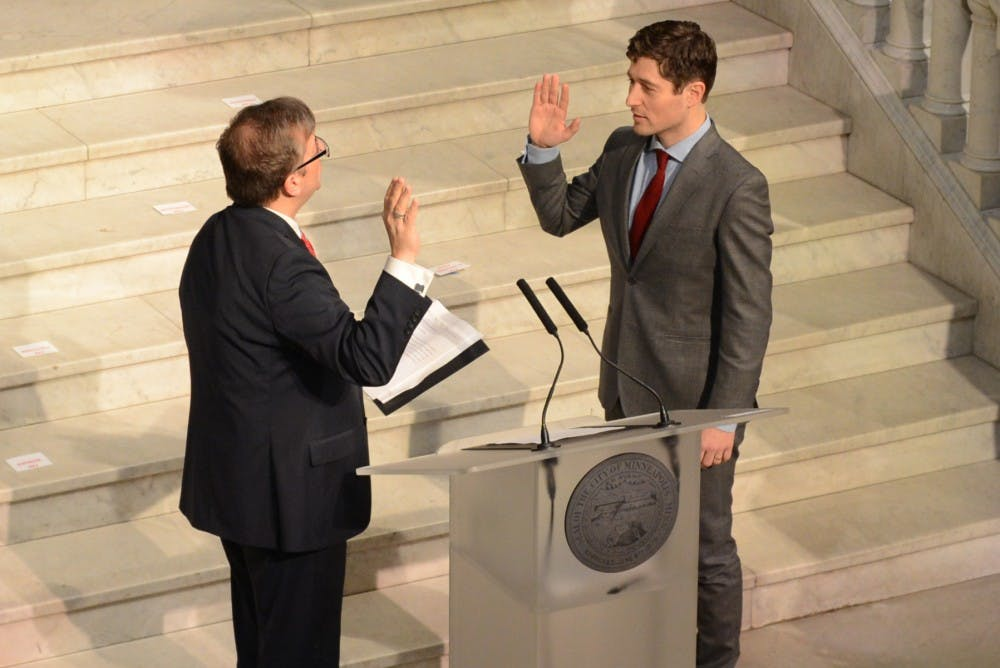 Mayor Jacob Frey and new Minneapolis council members inaugurated