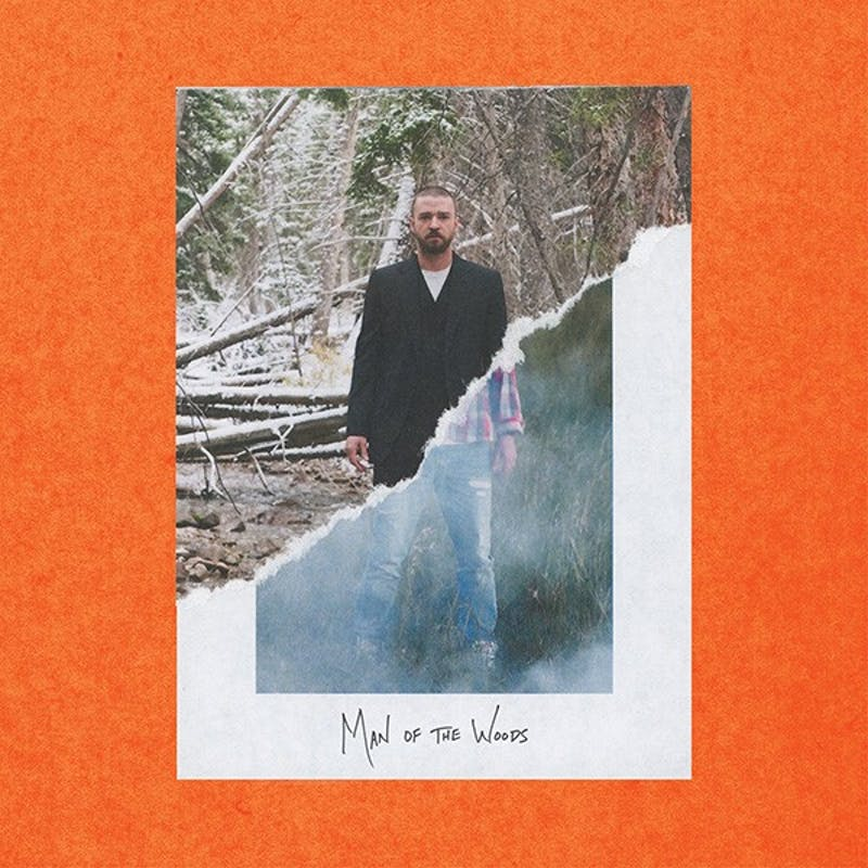 "Justin Timberlake's ""Man of the Woods"" album cover."