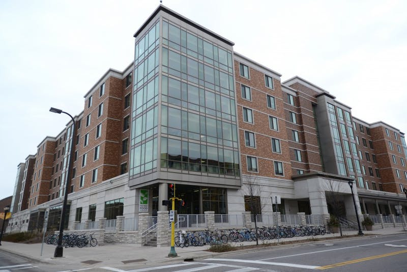 The 17th Avenue Residence Hall as seen on Sunday, Dec. 3, 2017. The Huntley House LLC for African-American students is located on the second floor.