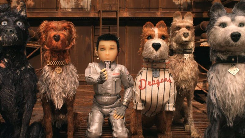 """A slew of celebrities join director Wes Anderson to voice a cast of castaway canines in his new film """"Isle of Dogs""""."""