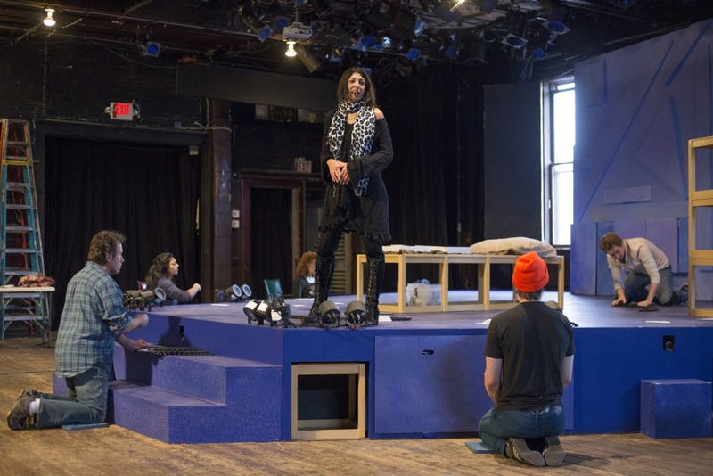The cast of 'The Curious Incident of the Dog in the Night-Time' rehearses at Mixed Blood Theatre on Wednesday, Nov. 1. The play won a Tony award in 2015 and will be showing at Mixed Blood Theatre Nov. 10 through Dec. 3.