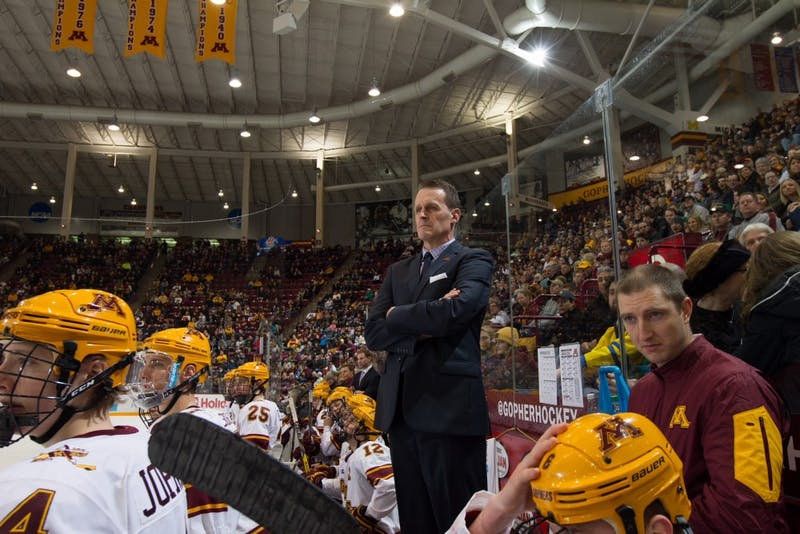 Gophers men's hockey associate head coach Mike Guentzel.