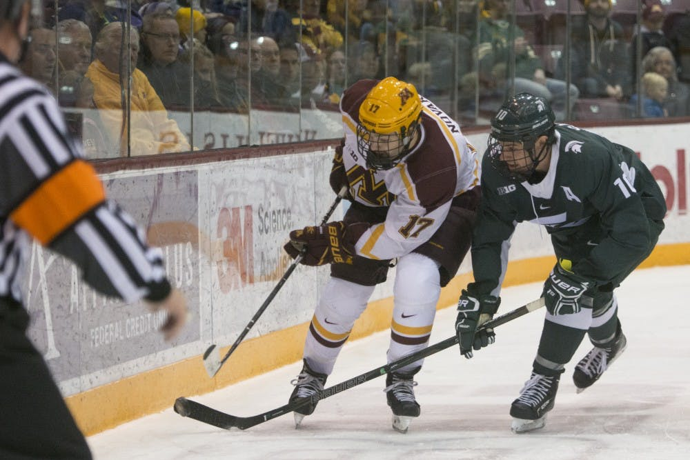 Minnesota completes sweep of Michigan State at Madison Square Garden