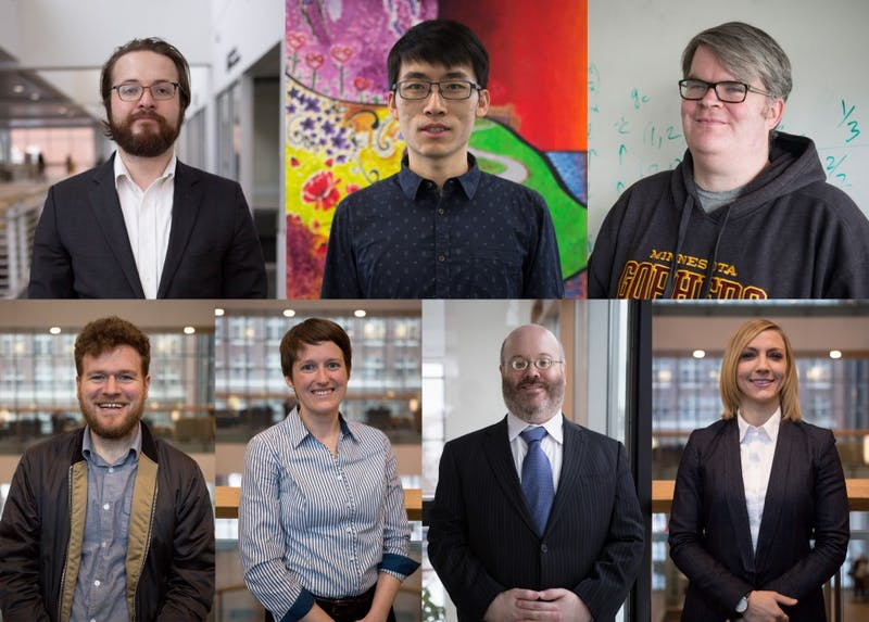 PSG and GOGS candidates, clockwise from top left: Jonathan Borowsky, Sean Chen, Scott Petty, Alanna Pawlowski, Ryan Machtmes, Sonya Ewert, Mike Sund.