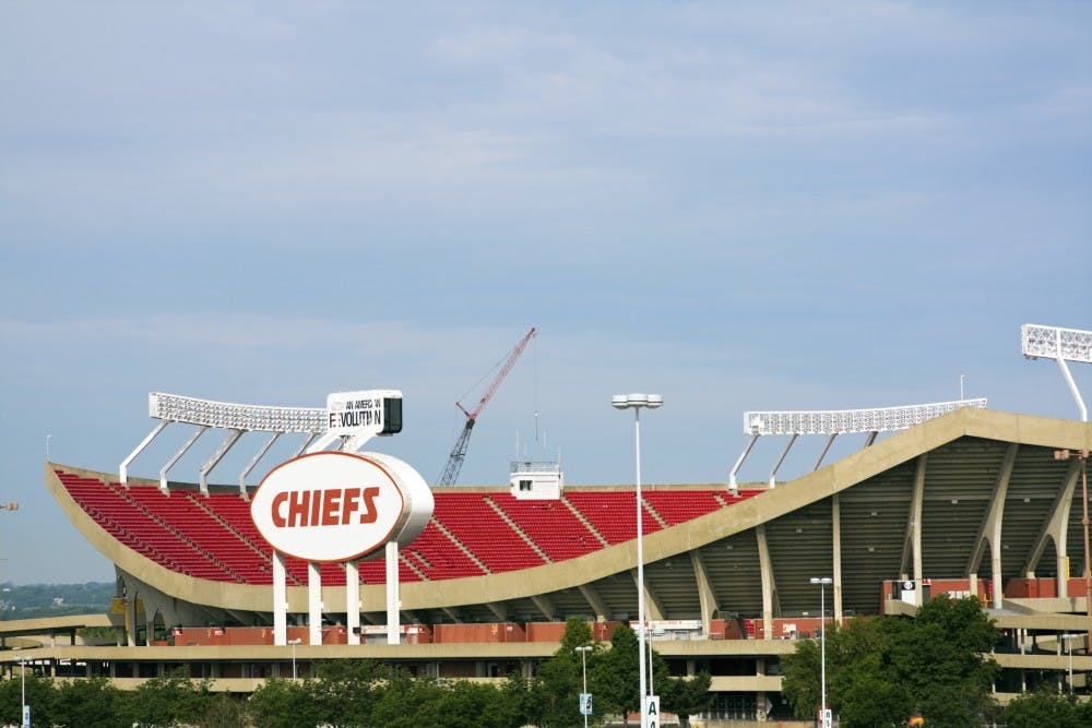 """Kansas City, Missouri, USA - June 1, 2008: Arrowhead Stadium in Kansas City, Missouri. The stadium was built in 1972 and has the capacity of 76000 people. Home to Kansas City Chiefs. Seen spring morning."""