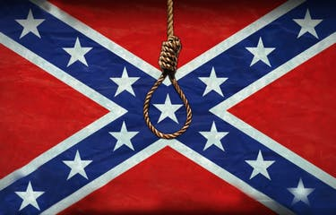 """Artist John Sims will bring a series of art exhibits to Ohio University's campus. One will include a """"public hanging"""" of the Confederate flag, which will have a noose tied around it until the colors bleed out. The exhibit is to stand against white supremacy. (PROVIDED via John Sims)."""