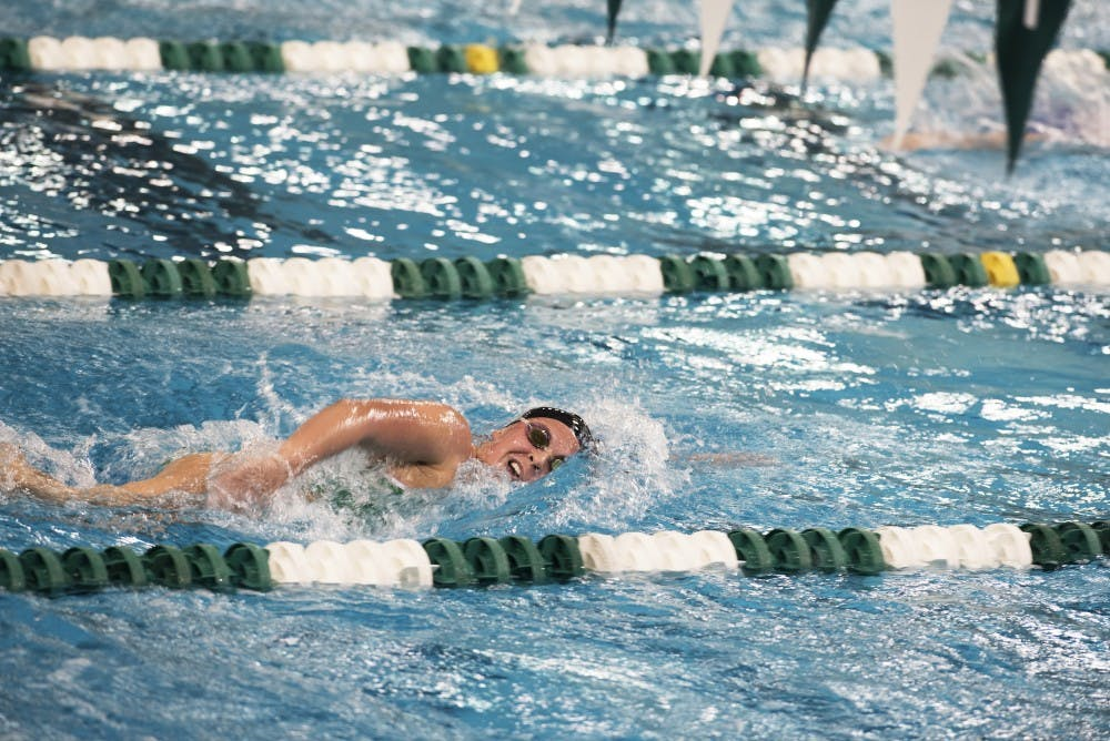 Swim & Dive: Second-place finishes the difference in loss to Buffalo