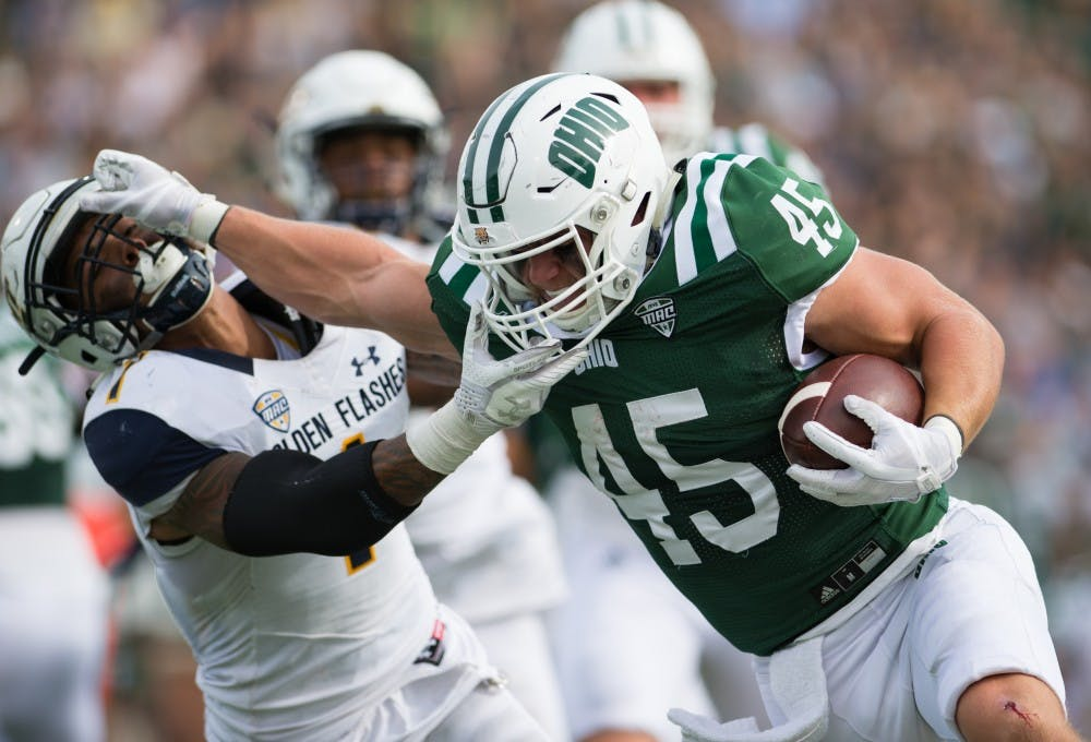 Football: Ohio throttles Kent State 48-3 behind elite rushing attack