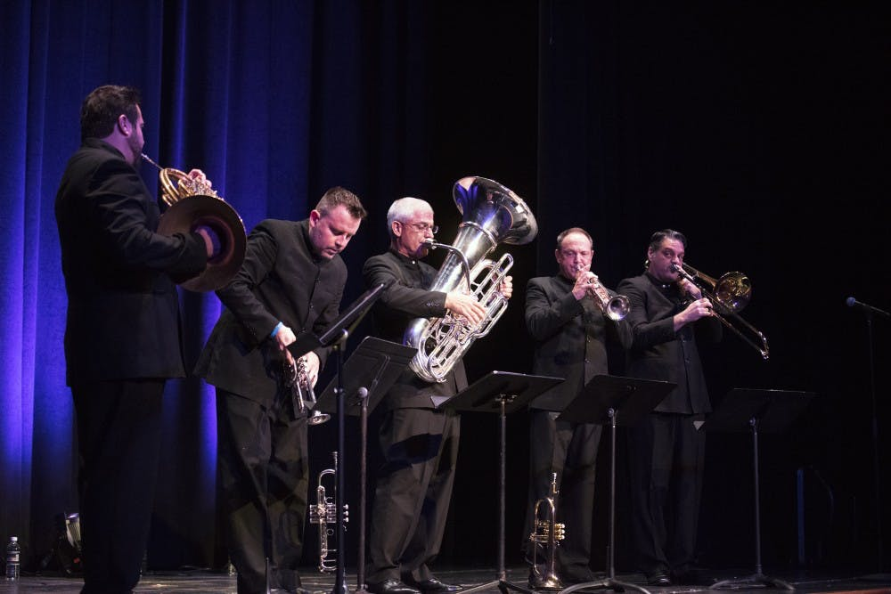 Boston Brass entertained Baker Center with sounds of jazz