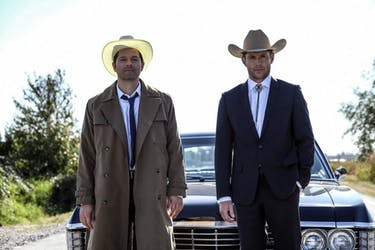 See who came back from the dead on 'Supernatural' this week. (Photo via @mishacollins Twitter)